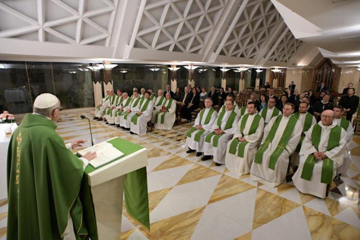 Messe du 19/10/2017 à Sainte-Marthe © L'Osservatore Romano