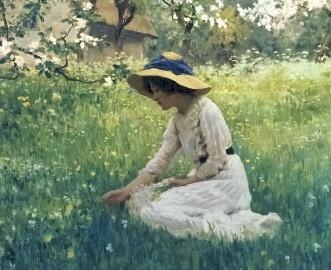 Fleurs du printemps de Arthur Hacker