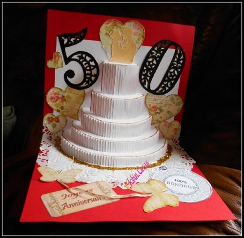 carte kirigami mariage