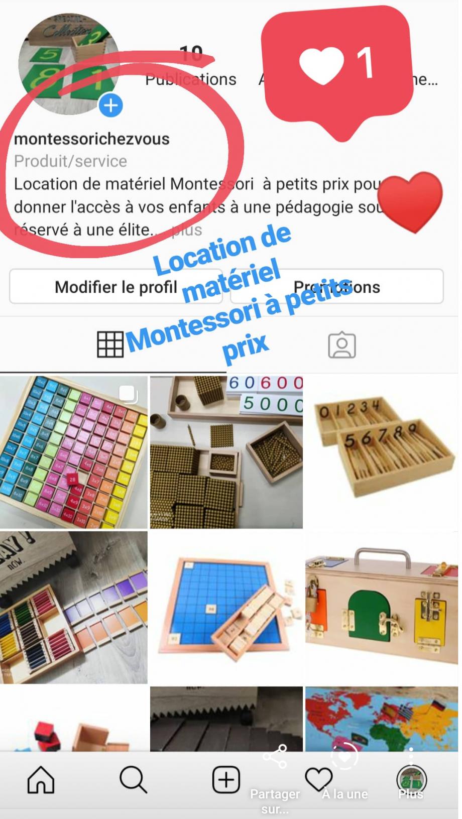 Location materiel Montessori