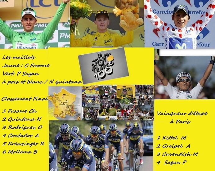 Le magnifique Tour de France 2013,  le 100è de l'histoire a pris fin ce soir à Paris