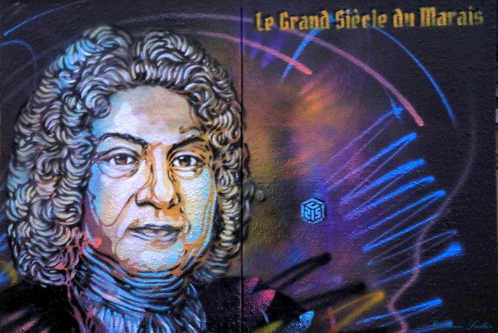 Street Art C215 à Paris, collection Le grand siècle du Marais