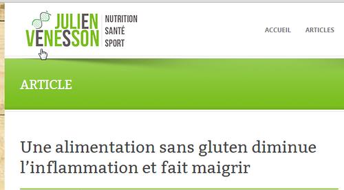 Une alimentation sans gluten diminue l'inflammation et fait maigrir