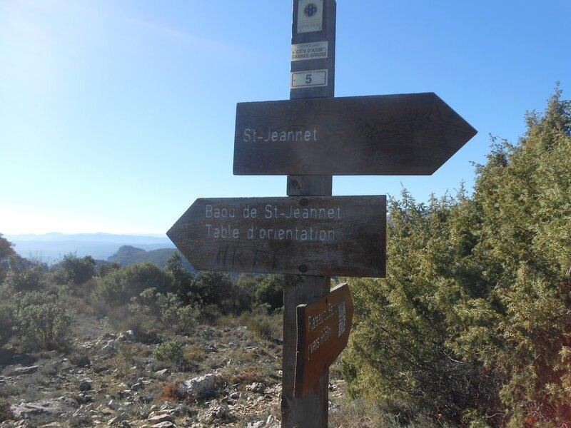 Randonnée au Baou de Saint Jeannet (06) - Samedi 19 Novembre 2016