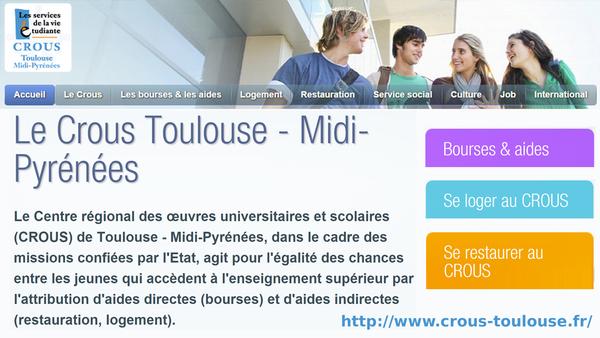 Le Crous Toulouse - Midi-Pyrénées