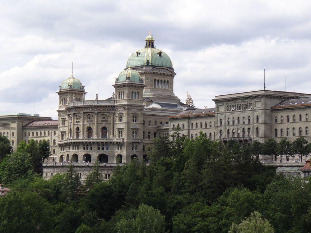 Le Palais Fédéral, à Berne...