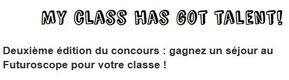Concours My class has got talent