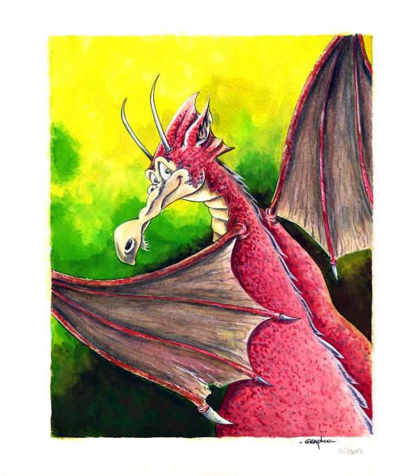 DragonAquarelle