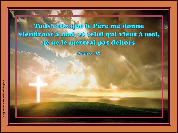 Celui qui vient à moi, je ne le mettrai pas dehors - Jean 6 : 37