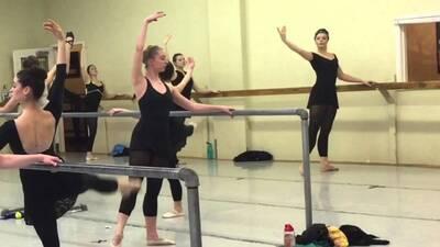 dance ballet class dancers at barre class