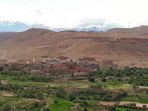 Vue sur la vallée t l'Atlas
