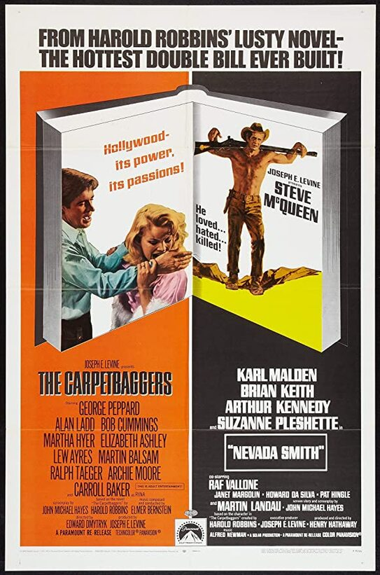 THE CARPETBAGGERS AND NEVADA SMITH REISSUES BOX OFFICE USA 1968