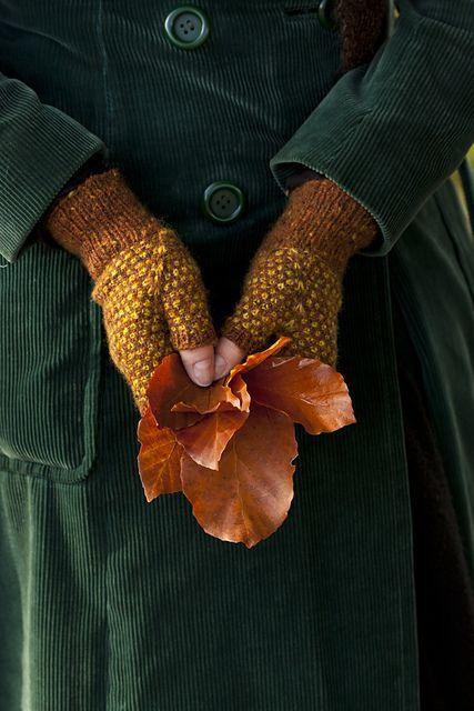 Ramasser des feuilles mortes