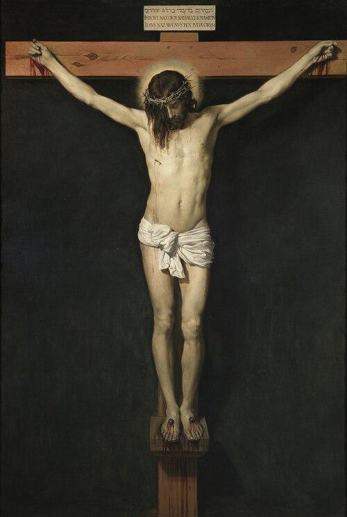 Quand le corps du Christ est jeté en l'air dans cette vidéo au 00:50 minute