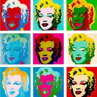 Presentation of 9 Marilyn by Andy Warhol