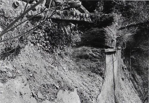 Effondrement d'un des lacets du chemin de croix en 1987
