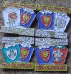 Pin's Midi Olympique Tournoi 1993 les 4.