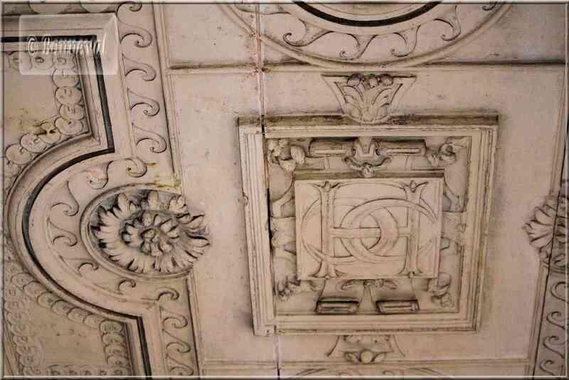 La Rochelle rue des Augustins Maison Henri II détail plafond galerie 1er étage