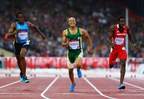 RESULTS OF THE COMMONWEALTH GAMES 2014 GLASGOW, UK 31st July 2014 MEN  400M HURDLES RANK ATHLETE NATION RESULT 1 Cornel Fredericks South Africa 48.50 2 Jehue Gordon Trinidad & Tobago 48.75 3 Jeffery Gibson Bahamas 48.78 4 Niall Flannery England 49.46 5 Christian Cuevas-Morton Nigeria 49.65 6 Boniface Mucheru Kenya 49.99 7 Richard Yates England 50.13 8 Annsert Whyte Jamaica DNF
