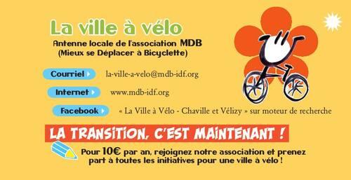 Des nouvelles de  la ville à vélo MDB Chaville /Vélizy