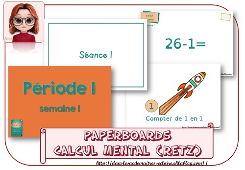 paperboards de Calcul mental (retz)