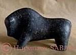Taureau, sculpture en pierre bleue - Arts et Sculpture: sculpteur animalier