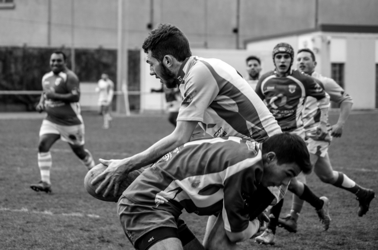 Rugby, stade Griffon (ex-Giraud), rencontre amicale, janvier 2016
