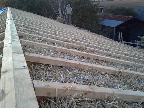 Paille toiture maison : du 04 octobre au