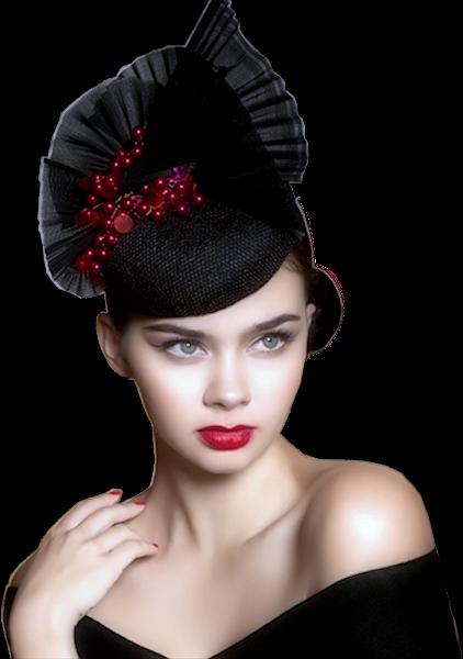 Tubes femmes chapeaux création 13
