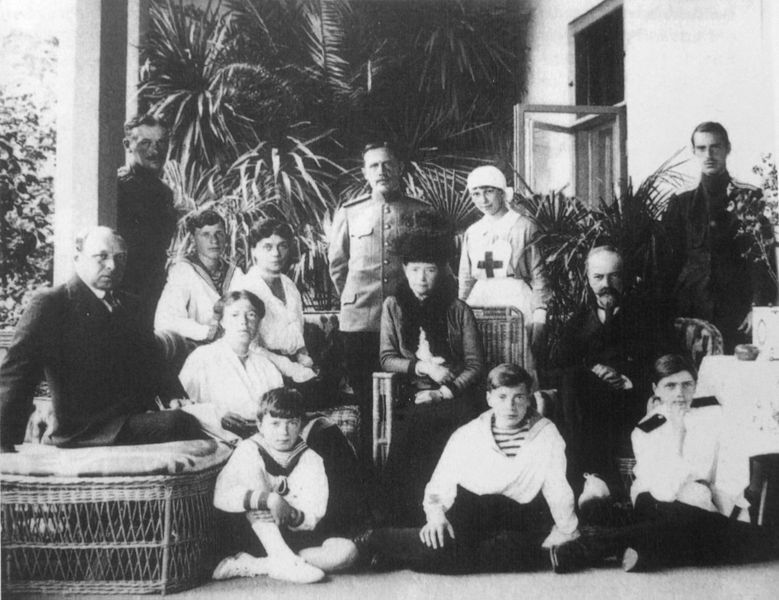 File:The Romanovs under house arrest in Ai Todor 1918.jpg