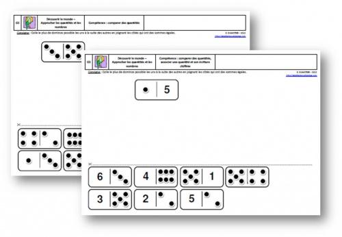 GS - Numération - Dominos - Exercice