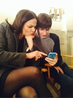 "@LanaParrilla : Me and @Jared_Gilmore playing @QuizUp the <a class=""pintag searchlink"" data-query=""%23OnceUponATime"" data-type=""hashtag"" href=""/search/?q=%23OnceUponATime&rs=hashtag"" rel=""nofollow"" title=""#OnceUponATime search Pinterest"">#OnceUponATime</a> Quiz!! Not as easy as we thought! <a class=""pintag searchlink"" data-query=""%23Perplexed"" data-type=""hashtag"" href=""/search/?q=%23Perplexed&rs=hashtag"" rel=""nofollow"" title=""#Perplexed search Pinterest"">#Perplexed</a> Yikes!"
