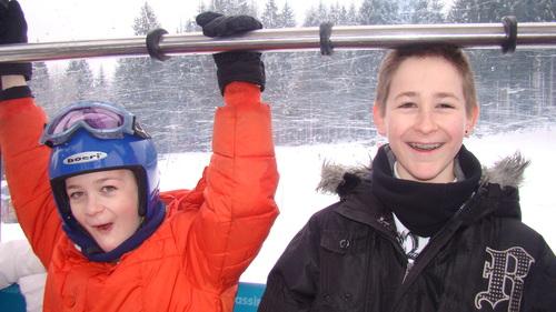 Classe de neige par Lucas et Goulven