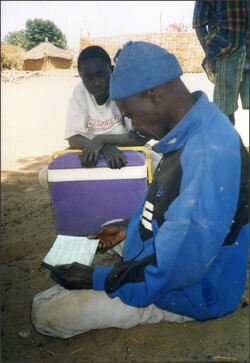 Village Chief in Sahel reading our Manifesto
