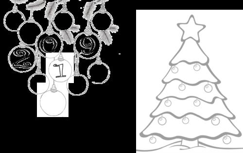 nouvelle année et Noël en zentangle