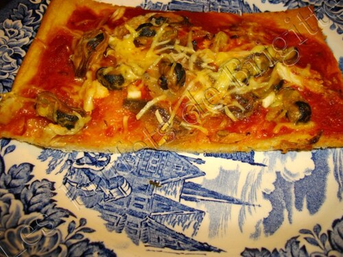 Pizza moules et anchois