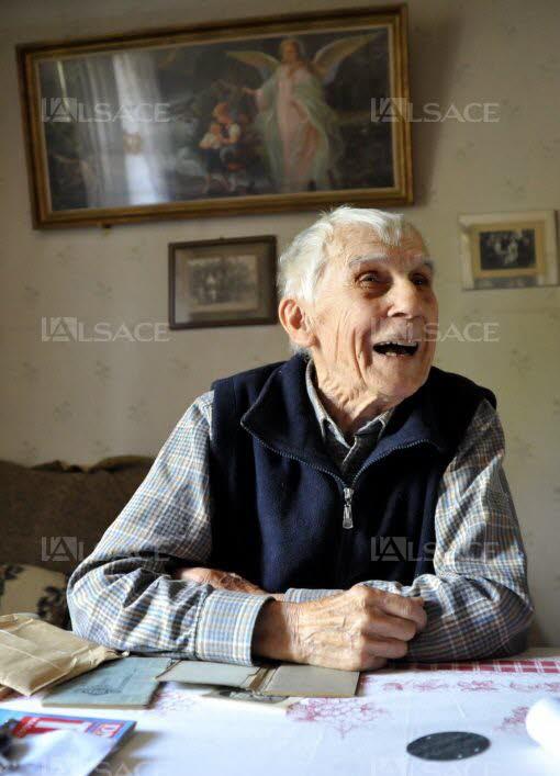 """Marcel: """"Avant le Déparquement, certains Allemands savaient que la guerre serait perdue"""". (Photo DNA L. Habersetzer)"""