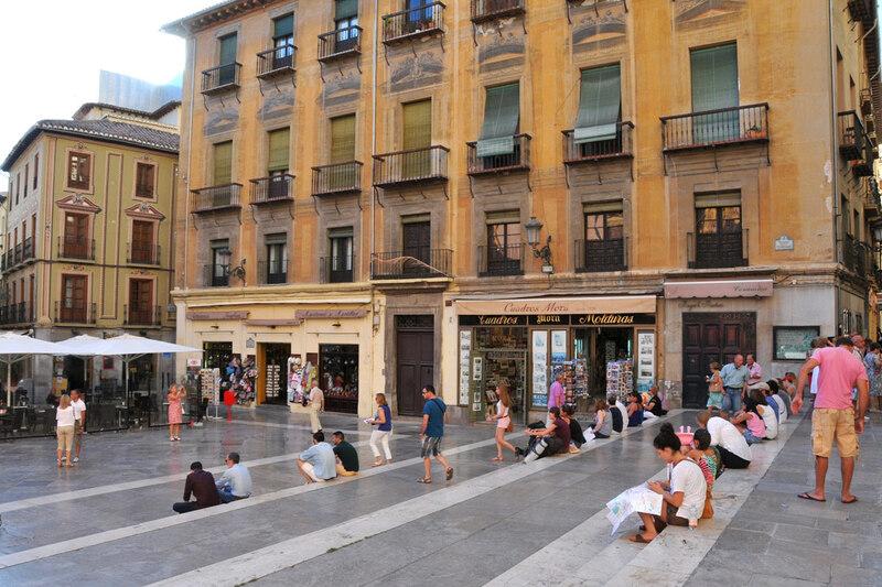 Grenade, plaza de las Pasiegas devant la cathédrale