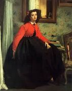 Portrait of Mlle L L - James Jacques Joseph Tissot - www.jamestissot.org