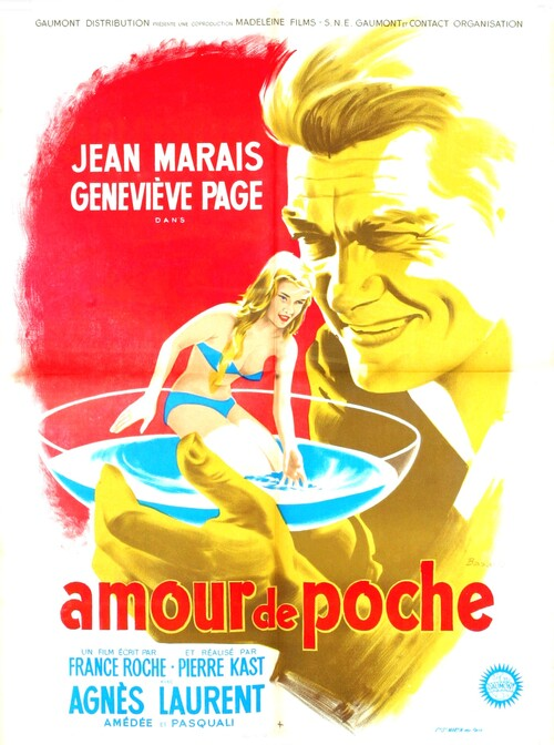 AMOUR DE POCHE - BOX OFFICE JEAN MARAIS 1957