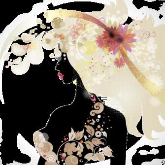 Tubes  : visages femmes fleurs