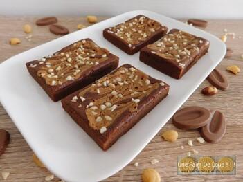 Fondants légers au chocolat et beurre de cacahuète