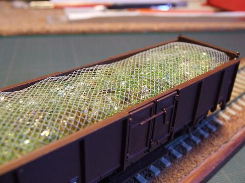 Chargement de verres pour wagons tombereaux