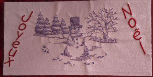 Broderie : paysage de neige