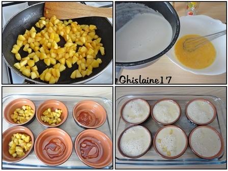 Pots de crème à la vanille et aux pommes caramélisées