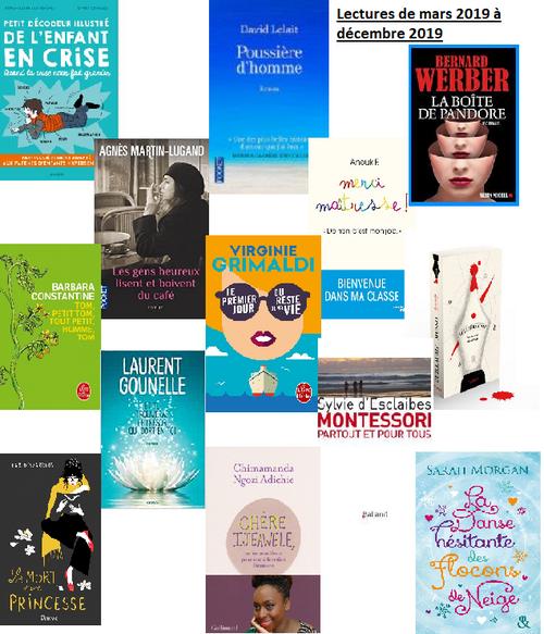 Tous les livres que j'ai lu depuis le dernier article lecture...