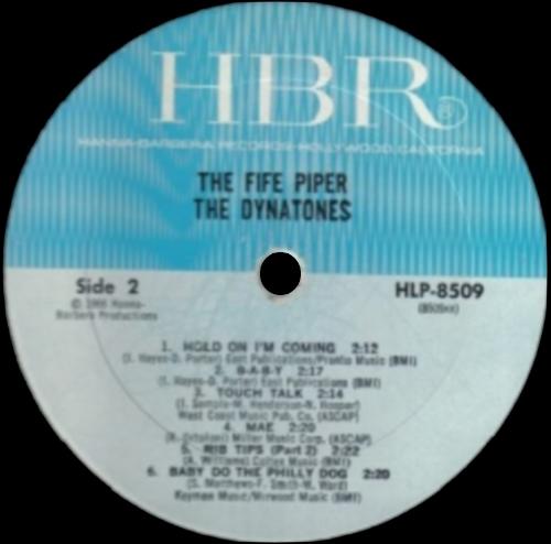 "The Dynatones : Album "" The Fife Piper "" Hanna-Barbera Records HLP 8509 [US]"