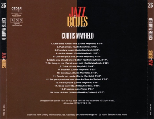 "1995 : CD "" Jazz Blues Collection Vol. 26 "" Editions Atlas WIS CD 626 [ FR ]"
