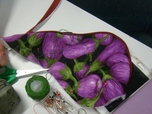 journée patch !!!! trousse aubergine
