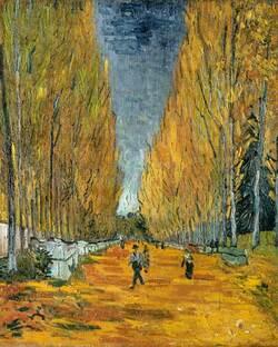 Les Alyscamps peints par Gauguin et Van Gogh